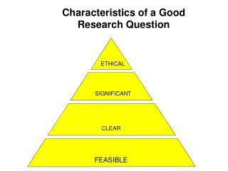 TYPES OF RESEARCH The different characteristics of